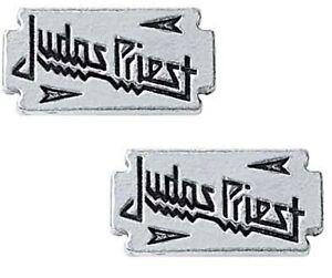 Judas Priest Razor Blade  Pewter Stud Earrings (ro)