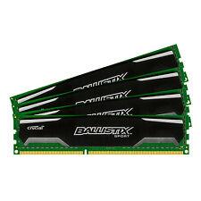 Crucial Ballistix Sport 32GB Kit 8GB x4 DDR3 Memory Ram BLS4KIT8G3D1609DS1S00