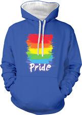 Rainbow Flag Gay Pride Lesbian LGBTQ Equality Same-Sex 2-tone Hoodie Pullover