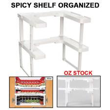 Kitchen Spicy Shelf Spice Rack Stackable Organizer Jar Bottle Storage Cupboard