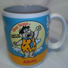 Kings Island Amusement Park Fred Flintstone Mug I Don't Do Morning Mug 80's Alic