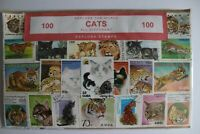 Cat Stamp Collection 100 Stamps All Different Sealed Pack Freepost Explora Post