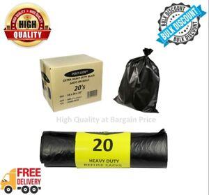 Black Bin Bags Sacks Liners Rubbish Bags waste Refuse Sacks heavy Duty Strong