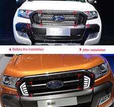 LED Front Middle Grille Light DRL Light Fit Ford Ranger T6 Pickup Raptor 16-17