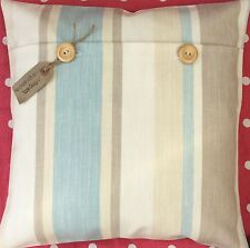 "Laura Ashley ""Awning Stripe"" Duck Egg hand made cushion cover"