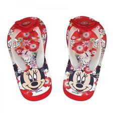 Kinder Flip Flops Badelatschen Sandale Minnie Maus Blume Gr. 26