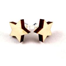 Unisex Mode-Ohrschmuck mit Stern-Schliffform und Butterfly-Verschluss
