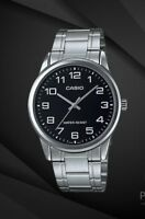 """NEW Casio MTPv001D-1B Men's Silver Stainless Steel Watch """"EASY-TO-READ"""" Dial"""