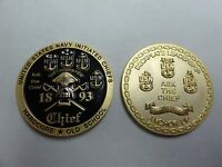 CHALLENGE COIN UNITED STATES NAVY INITIATED CHEIFS DECKPLATE LEADERSHIP OLD SCHO