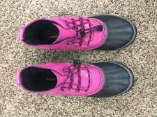Sorel Out N About Leather Winter Waterproof Ankle Boot Women's Size 5 EU 37 Pink