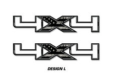 """4x4 Off Road Truck Bed Decal Set For Ford F150 Raptor Vinyl Stickers 16""""x3"""" SUBD"""