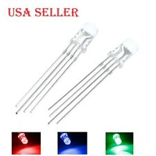 5mm RGB LED Common Cathode Tri-Color Emitting Diodes f5 RGB Diffused
