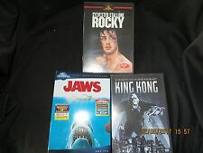 3 DVD's-Factory Sealed-Rocky,Jaws and King Kong