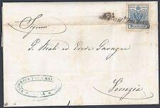 Austria 1858 Zara To Venezia Folded Letter Franked 9 Kreuzer Sc 5 Imperf Large 4