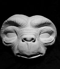 """E.T."" Extra Terrestrial Lifesize Cast Mask in Hydrocal Plaster, great detail!!"
