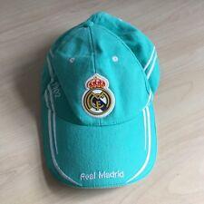 Real Madrid Football Club Turquoise Baseball Cap Hat Blue/Green Crest Badge