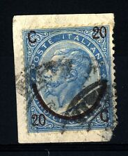 ITALIA - Regno - 1865 - Effigie di Vittorio Emanuele II. Soprastampa. III tipo