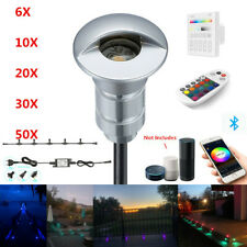 26mm Rgb Half Moon Led Deck Step Stairs Inground Lights Bluetooth App Controller