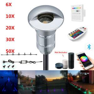 26mm RGB Half Moon LED Deck Step Stairs Inground Lights Bluetooth APP Controller