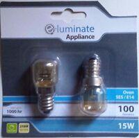2 X HEAVY DUTY 300c OVEN COOKER APPLIANCE 15w Bulb Lamp SES E14 Light Bulbs 240V