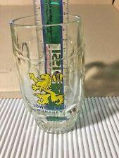 """LOWENBRAU Dimpled Glass Beer Bier Stein Mug 5 3/8"""" $0 S&H"""