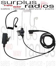 2 Wire Surveillance Headset Black Tube Motorola CP200 CP200D CP185 BPR40 PR400