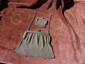 sac de soirée travail de maille art deco et son aumonière,25xH17cm,P 300g les 2