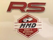 RS Rally Sport Badge Emblem WRX STI EVO 1-10 GTR 32-35 Ford-RS Rally Spec