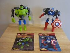 Lego Super Heroes 4530 Hulk & 4597 Captain America. Avengers. superposée figues