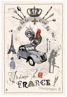 Torchons & Bouchons EIFFEL TOWER I love Paris j'aime la FRANCE French Tea Towel