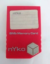Nyko Red 8MB 123 Block 81529-H08 Nintendo Gamecube Memory Card Free Shipping!