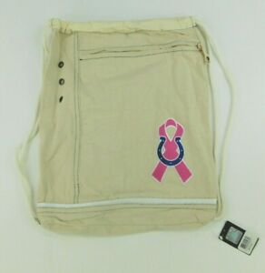 Littlearth NFL Womens Old School Canvas Cinch Indianapolis Colts Cinch Bag