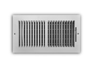 EVERBILT 12 in. x 6 in. 2-Way Aluminum Wall/Ceiling Register in White