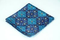 Lord R Colton Masterworks Pocket Square - Tangier Sapphire Woven Silk - $75 New