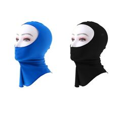 2 Pieces Scuba Snorkeling Face Mask Diving Hat Swimming Hood Neck Cover Cap