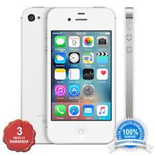 APPLE IPHONE 4S BIANCO 8GB ORIGINALE + ACCESSORI + 3 MESI GARANZIA GRADO A