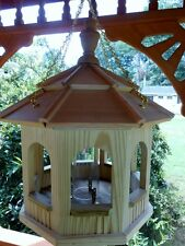 Wooden Gazebo Hanging w/Chain Bird Feeder Amish Gazebo Handcrafted Homemade