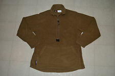 EXCELLENT TAN PECKHAM MADE FOR USMC POLARTEC ZIP UP PULLOVER FLEECE MEDIUM!