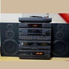 JVC Hi Fi TUNER / CASSETTE / CD / TURNTABLE / AMP / EQUALIZER+ SPEAKERS - 250