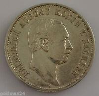 3 Mark Silbermünze dt. Kaiserreich 1909 E - Friedrich August König v. Sachsen