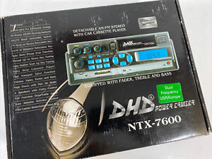 DHD NTX-7600 AM/FM Car Radio & Cassette Player Detachable New Old Stock