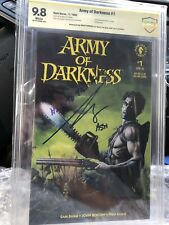 """Army of Darkness #1 Dark Horse CBCS 9.8 Signed Bruce Campbell """"Hail To The King"""""""
