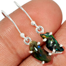 Chalama Black Opal Rough 925 Sterling Silver Earring Jewelry BE10519