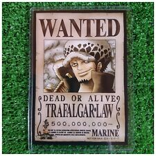NEW!! Mugiwara Store Limited One Piece Wanted Poster Bromide Card Trafalgar Law