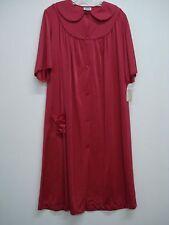 USA Made Nancy King Lingerie Waltz Length Robe Size Small Burgundy #509Q