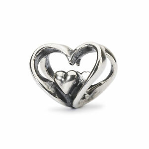 TROLLBEADS Bead in Argento Cuore a Cuore TAGBE-10202