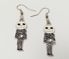 The nightmare before christmas jack skellington skeleton cute black earrings