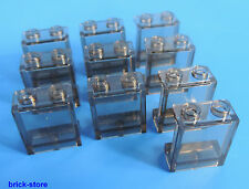 LEGO 1x2x2 Finestra / Vetro trasparente fumo / 10-pc