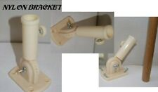 Plastic Flag pole Bracket Mount For 3/4 Inch Flagpole (Screws Included)