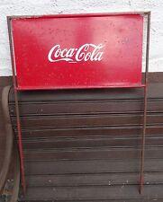 vintage Coke display - Antikes Coca Cola Schild alter Fahrradständer Aufstecker